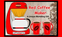 Red Coffee Maker – A Unique Marketing Gift